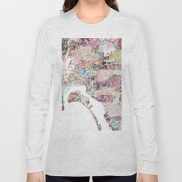 San Diego map flowers Long Sleeve T-shirt