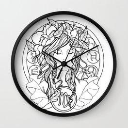 Zodiac Series | Virgo Wall Clock