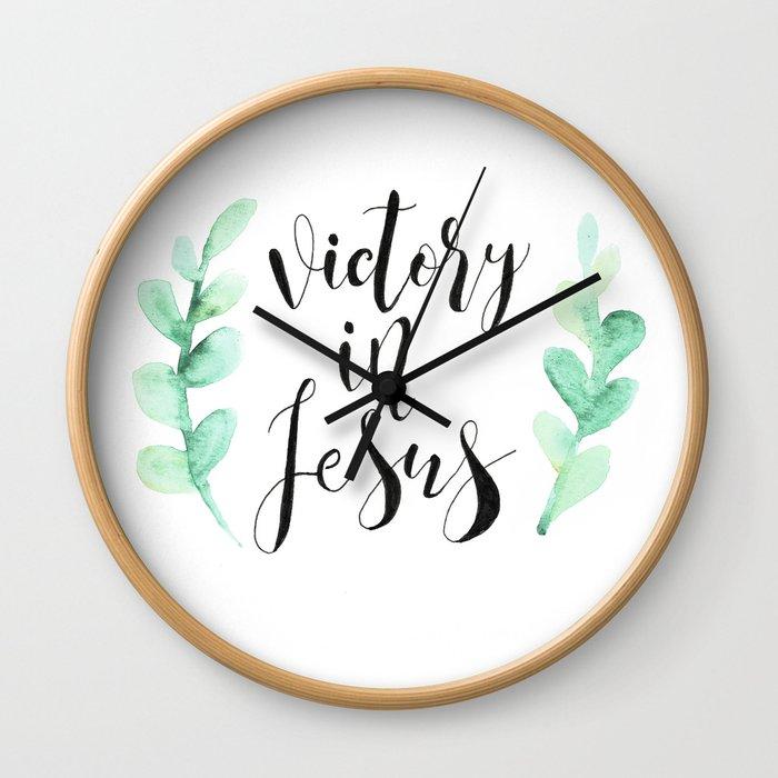 Victory In Jesus Wall Clock