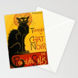 Le Chat Noir The Black Cat Art Nouveau Stationery Cards