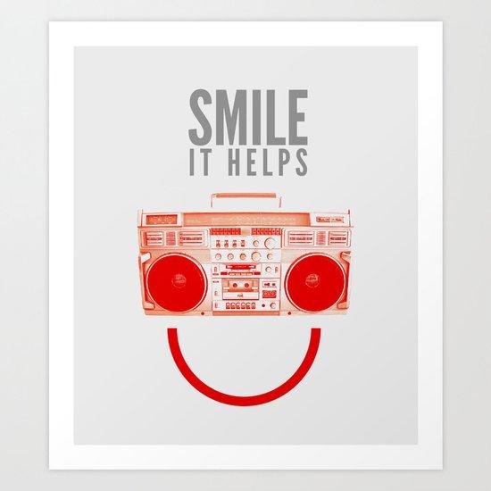 Smile. It Helps. Art Print