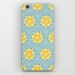 Summer Citrus and Blossoms iPhone Skin
