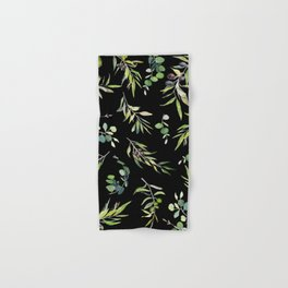 Eucalyptus and Olive Pattern  Hand & Bath Towel