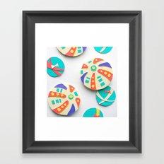 Temari Papercut Framed Art Print