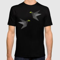 Black and White Paper Cranes Mens Fitted Tee SMALL Black
