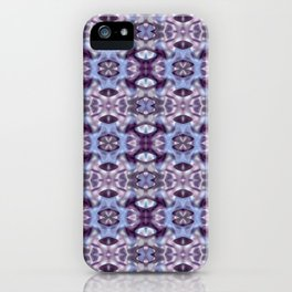 Pattern in Blue and Violet iPhone Case