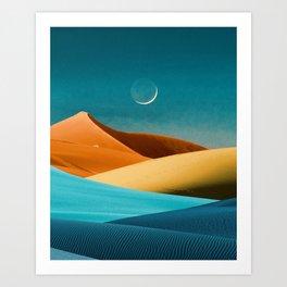 Moon Sand and Sea Art Print