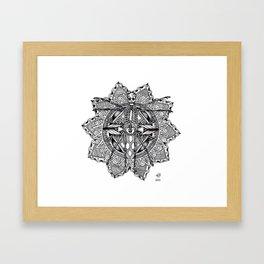 Skeleton Mandala Framed Art Print