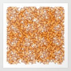 Trompe-l'œil - Starfruit vs. Autumn Art Print
