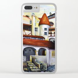 Dracula Castle - the interior courtyard Clear iPhone Case