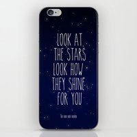 coldplay iPhone & iPod Skins featuring Look How They Shine For You 2.0 by Adel