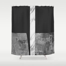 Marble geometry IV Shower Curtain
