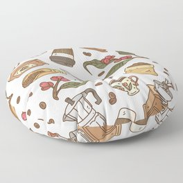 Coffee Break Pattern  Floor Pillow