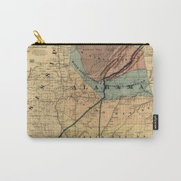 Map of Alabama 1867 Carry-All Pouch