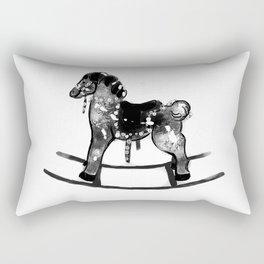 vintage cockhorse hand drawing Rectangular Pillow