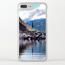 Hallstatt village Clear iPhone Case
