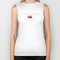 frank underwood Biker Tanks featuring Frank for Prez by CleanSlate