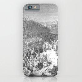 Gustave Doré - La Grande Bible de Tours (1866) 145 Judas Maccabeus before the Army of Nicanor iPhone Case