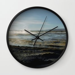 Natural spas Wall Clock