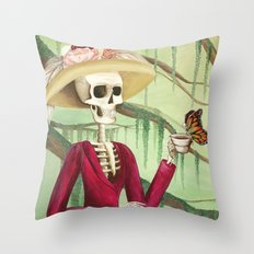 Jane Austen La Catrina Throw Pillow