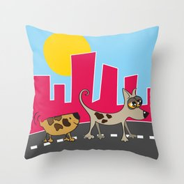 Walking Together© Throw Pillow