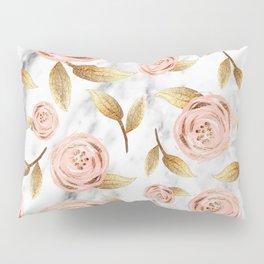 Blushing blooms Pillow Sham