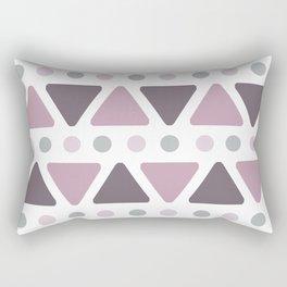 Mid Century Modern Triangles Dots Lilac Rectangular Pillow