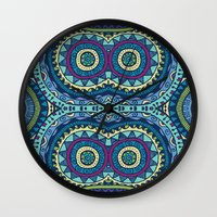 aqua Wall Clocks featuring Aqua by Arcturus