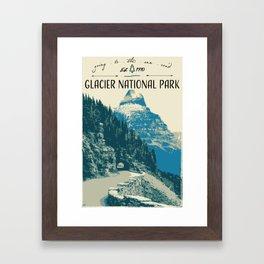 Glacier National Park - Going to the Sun Road Framed Art Print