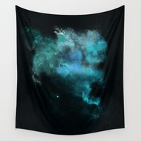psychology Wall Tapestries featuring a cold nebula by Gabrielle Agius