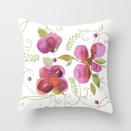 Deco flowers Throw Pillow
