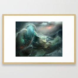 Stormy Seas Framed Art Print