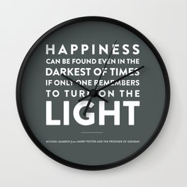 Light - Quotable Series Wall Clock