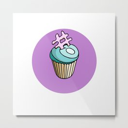 Blue muffin Metal Print