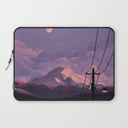 Mt Rainier with Powerlines Laptop Sleeve