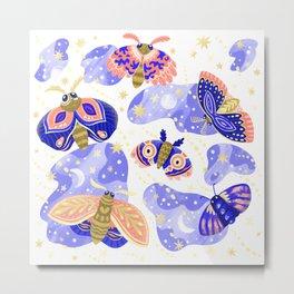Moths Trans Metal Print