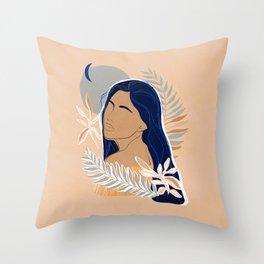 Tropical Portrait - Closer to the Sun Throw Pillow