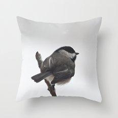 The Bravest Little Chickadee Throw Pillow