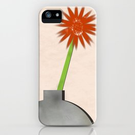 Four vases with two gerberas iPhone Case