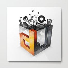 DJ Metal Print