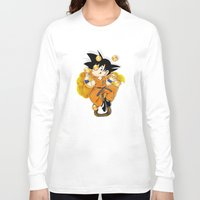 goku Long Sleeve T-shirts featuring Goku by Ana del Valle Store