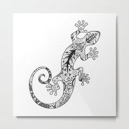 ornate gecko Metal Print