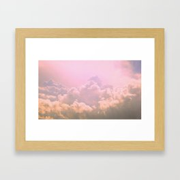Taffy Clouds Framed Art Print