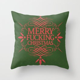 Merry Effin Christmas Throw Pillow