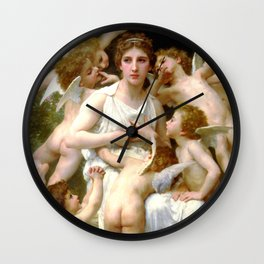 "William-Adolphe Bouguereau ""The Assault"" Wall Clock"