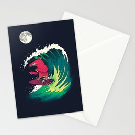 Moonlight Surfer Stationery Cards