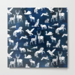 Patronus pattern Metal Print