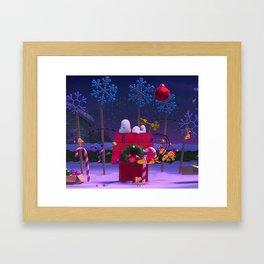 Snoopy Christmas Winter Xmas Framed Art Print