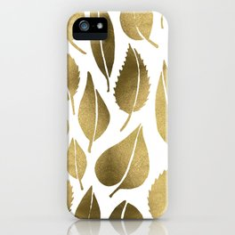 Cascading Leaves – Gold Palette iPhone Case