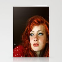 redhead Stationery Cards featuring RedHead by Allaa Adel
